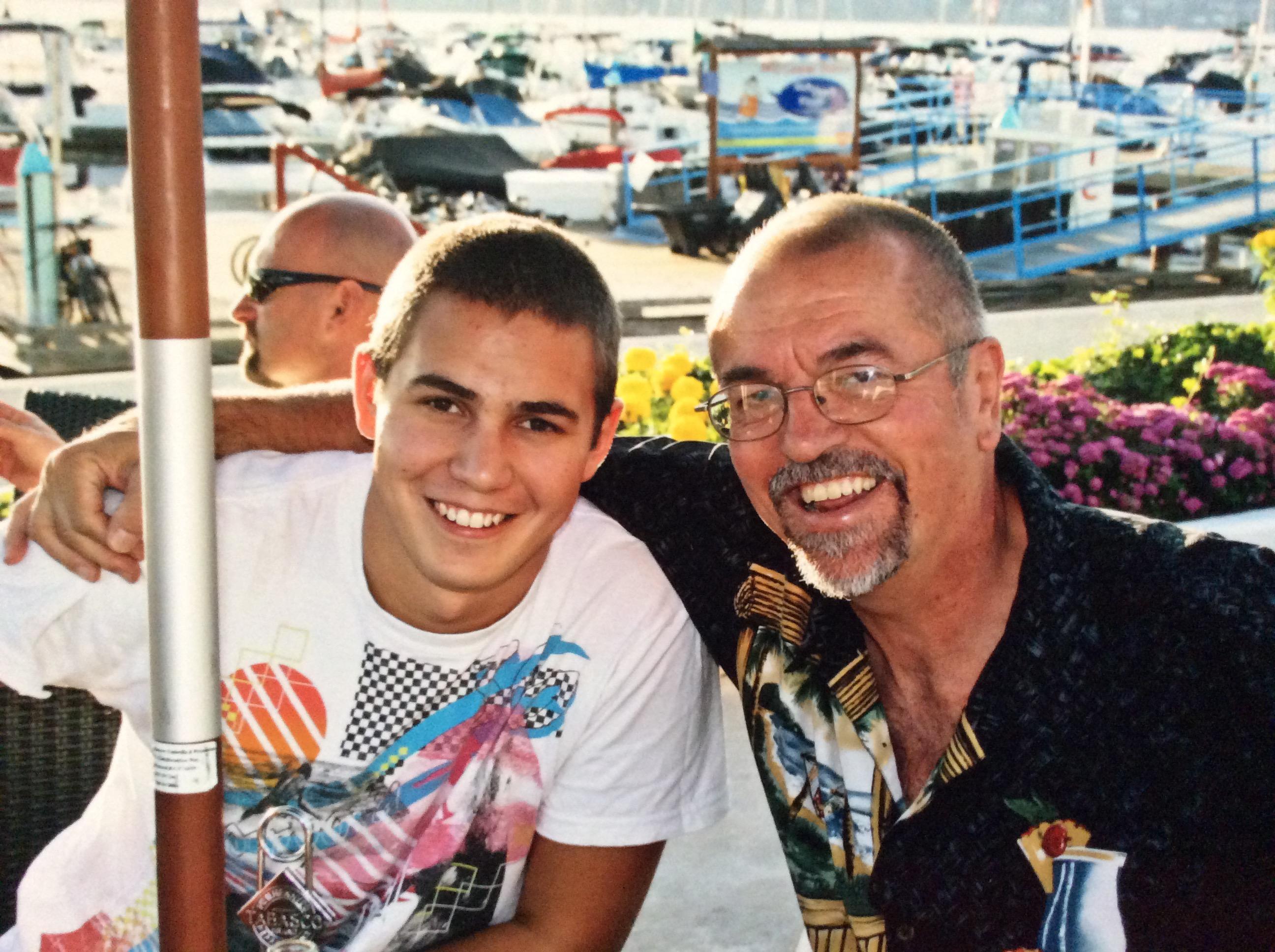 Shaydon and Tony at KYC...the old club